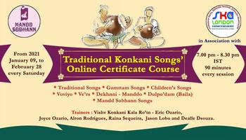 Traditional Konkani Songs' Online Certificate Course